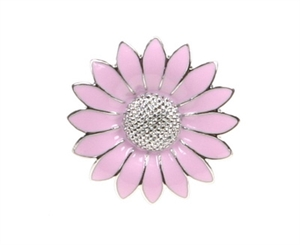 Margerit broche rosa