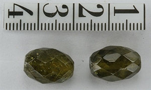 Granat Grøn 14x10 mm Oval Facet