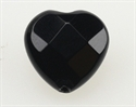Onyx 14x14 mm Hjerte Facet